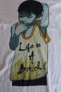 Life Is A Bitch Berlin Street Art Womens T-shirt